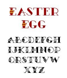 egg font, easter eggs, fun font