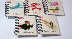 10 Vintage Flash Cards recycled into mini by heavensentcrafts