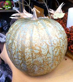 Decoupage Pumpkin