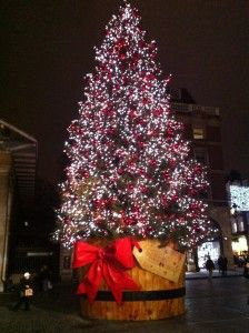 Christmas Tree in Covent Garden, London