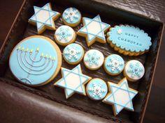 Very nice Hanukkah cookies (Monika Horcickova).
