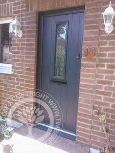 Solidor anthracite grey timber composite doors on for Composite door design your own