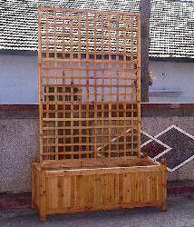 Cedar Wood Lattice Fence Planter Box