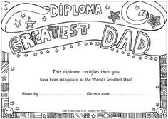 World's Greatest diplomas - also printable diplomas for friends, sisters, granparents, moms and brothers