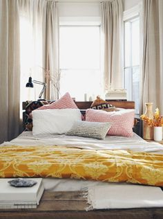just pretty: pink & gold bedroom, michael graydon photography