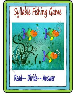 Syllable Fishing Game! from Essential Reading Skills on TeachersNotebook.com -  (27 pages)  - This game provides practice for students to read two syllable words. Each word card provides questions and words for students to read with VC/CV, V/CV-VC/V, and consonant le words.