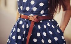 the dot, fashion, polka dots, tie, blue, outfit, the dress, leather belts, spot