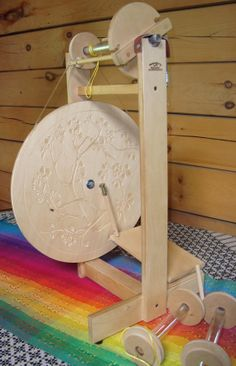 Used spinning wheel - Stella single treadle made by Heavenly Handspinning