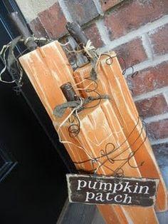 pumpkin crafts, pumpkin decorations, fall crafts, wood blocks, fall pumpkins, tree branches, front porches, craft night, halloween