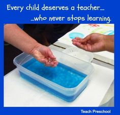 Educating Teachers by Teach Preschool  Great ideas in this blog entry!! Check it out for early ed