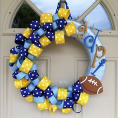 A great picture of the football wreath for our UCO colony!