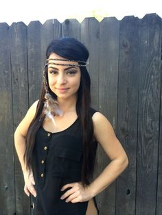 #featherheadband #feathers #hippie #festivals #raves #tribal #indians #hair #accessories #trending