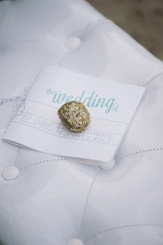 hold down programs with glittered rocks // photo by Comfort Studio // styling by Tropical Occasions