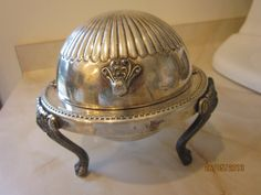 Vtg FB Rogers 1883 Silverplate Butter Dish.