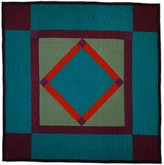 Diamond in a Square, Lancaster County, PA, c. 1925. Lancaster Quilt & Textile Museum (Pennsylvania) hand, squar, antique amish quilts, antiqu amish, diamond, textil, museum, bright colors, antiques