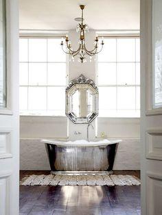 interior, blanket, dream bathrooms, moroccan wedding, venetian mirrors, bathroom designs, white bathrooms, bubble baths, design bathroom
