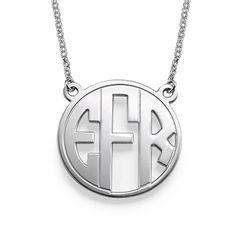 Block Letter Monogram Necklace | MyNameNecklace