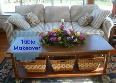 Growing in Grace: Table Makeover - New way to utilize space and declutter the room!