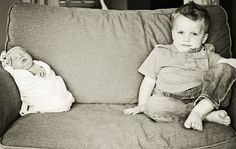 One of my first newborn shoots...With my sweet nephew and his new sister. Can you tell he's thrilled kid