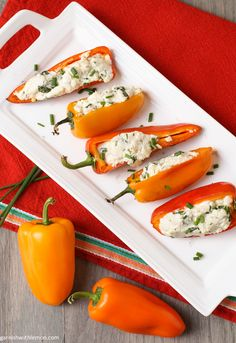 Grilled Peppers with Goat Cheeese