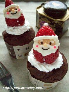 Santa chocolate muffin
