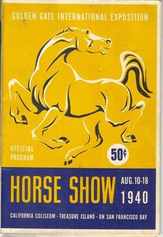 vintage horse show poster