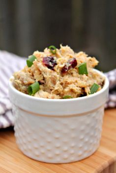 Louisiana Bride: Cranberry Almond Chicken Salad & Seed Crackers