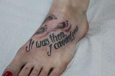 footprints tattoo
