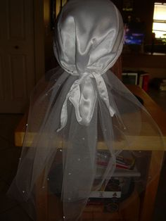 Wedding do-rag for motorcycle rides!