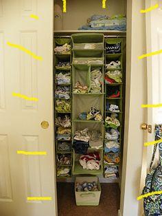 Closet Organization for a nursery