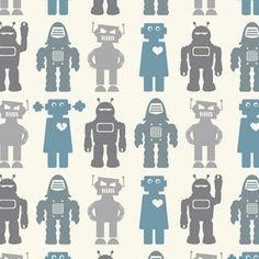 Robots Wallpaper by Aimee Wilder modern wallpaper