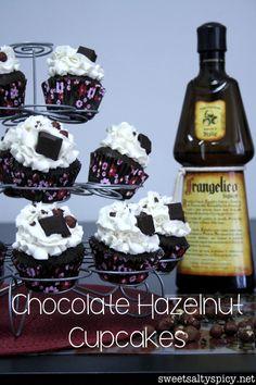 Chocolate Hazelnut Cupcakes - sweetsaltyspicy.net