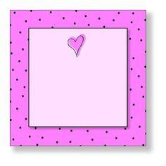 pink dots heart