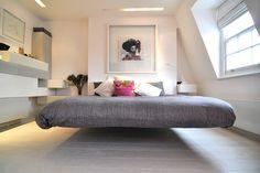 interior, floor design, dream homes, float bed, platform beds, bedrooms, apartments, guest rooms, bedroom designs
