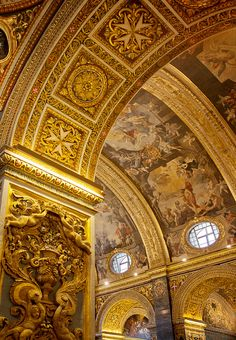 Vaults of St. Johns Co-Cathedral located in Valletta, Malta, was built by the Knights of Malta between 1573 and 1578.