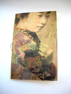 Geisha Girl Notebook Altered Art Cover by NeonSun on Etsy, $18.00