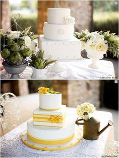 ► Un par de pasteles de boda estelares. #pasteles #bodas