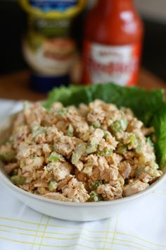 Buffalo Rotisserie Chicken Salad from @aggieskitchen