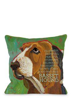 Bassett Hound 2 Pillow