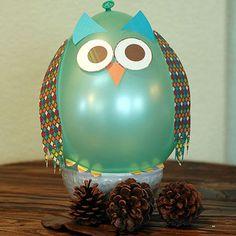 Owl balloon party decoration Pinned by www.myowlbarn.com