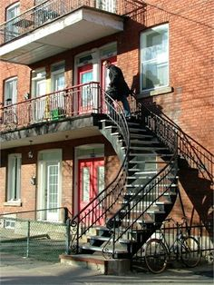 Montreal Outdoor Staircases.