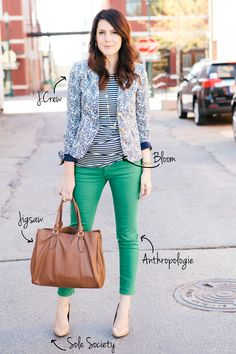 Mixed Prints Spring Style. -- yep love. can't pull off, but yep, love.