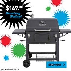 Get this charcoal grill for only $149.  Shop online to take advantage of Black Friday prices now!