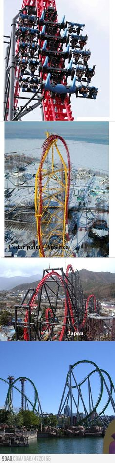 Some crazy rollercoasters...i think the 2nd one is almost no possible!???