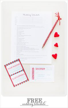 have you scheduled your wedding day? here's a pretty printable that will help you.