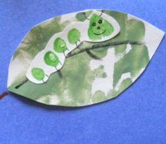 Toddler Piggy Print Caterpillars were our top project last week! What a cute little keepsake, and such an easy footprint project! | AllFreeKidsCrafts.com