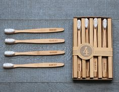 Guest Toothbrushes | sweet packaging