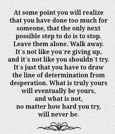 Determination vs. Desperation.