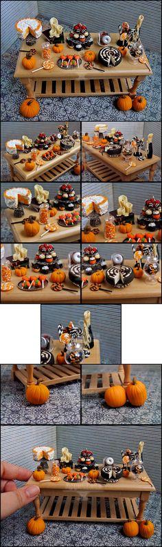 1:12 Halloween Table Details by Bon-AppetEats.deviantart.com on @deviantART