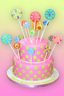 lollipops birthday cake